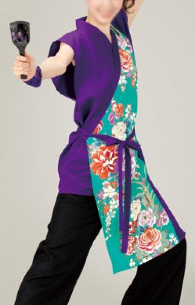 画像1: よさこいコスチューム(レディース)紫・緑 (1)