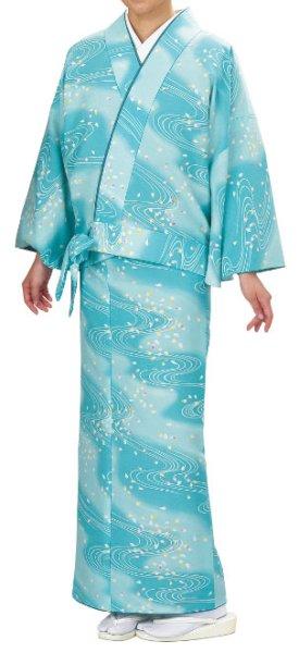 画像1: お取り寄せ商品 二部式着物【袷仕立】 流水桜 (1)