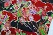 画像5: 鯉口シャツ【雲に花/黒系】大人用 男性女性兼用 (5)