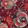 画像7: 鯉口シャツ【薔薇に鶴丸富士/赤系】残りわずか:在庫非連動 (7)