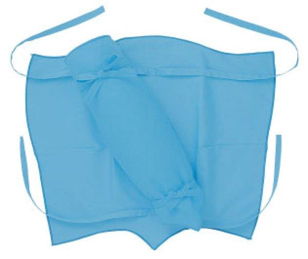 画像1: お取り寄せ商品 カラー脚半【ブルー】 (1)