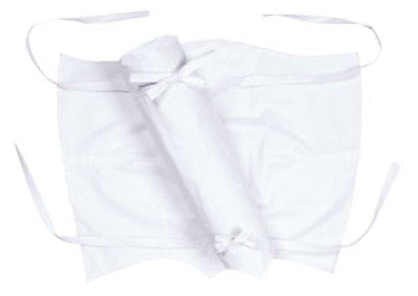 画像1: お取り寄せ商品 カラー脚半【白】 (1)